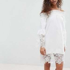 White Off Shoulder Dress (Tall)
